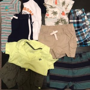 Lot of 9 baby boy spring/summer clothes